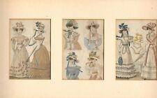 More details for 1825 three mounted parisian costumes (very colourful )