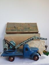 Vintage USSR Tinplate Crane Truck + Box, Instructions & Bucket