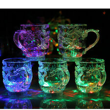 Unique LED Dragon Water Flashing Color Party Beer Whisky Cup Mug Activated Drink