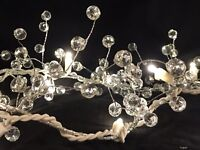 Pre-Lit Acrylic Crystal Berry Garland Centerpiece Holiday Events Home Decor