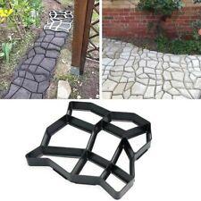 DIY Mould Home Garden Floor Road Stone Path Mold Patio Maker Black