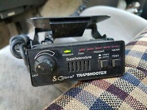 Vintage COBRA Model RD-3100 Trapshooter Radar Detector w/ Cord & Bracket