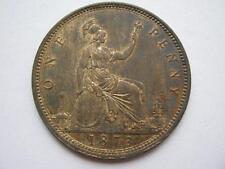1873 Queen Victoria Penny, A UNC.