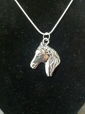 Western Stallion Country Horse Head on a Sterling Silver Necklace - Holiday