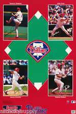POSTER :MLB  BASEBALL - 1993 PHILLIES MONTAGE -  FREE SHIPPING !  #6563  LC2 i