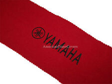Yamaha Piano Key Cover - Red Felt with Black Embroidery Keyboard Cover