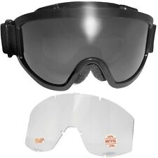 Padded Anti-Fog Motorcycle Goggles Kit-2 LENSES-Fit Over RX Prescription Glasses