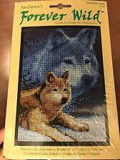 "Janlynn's Forever Wild #013-0309 WOLF Counted Cross Stitch 5"" x 7"" ~ Sealed"