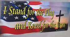 LOT OF 10 I STAND FOR THE FLAG KNEEL FOR THE CROSS STICKER TRUMP CHRISTIAN USA