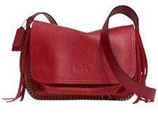 NWT Coach Dakotah Leather Fringe Flap Shoulder Bag Crossbody 33935 Red Purse New