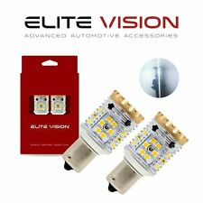 Elite Vision 1156 LED Turn Signal Light Bulbs White Kit for Infiniti 3K 2600LM