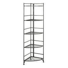 Convenience Concepts Xtra Storage 5 Tier Folding Corner Shelf, Black - 8021B