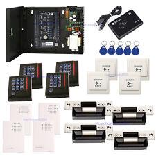 ZKAccess Card Access Systems C3-400 IP Based Kits & ANSI Strike Lock + Power Box