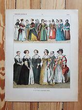 Dutch Costume - c.1500 - Fashion History, Original Print, Art, 17th c Netherland