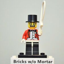New Genuine LEGO Circus Ringmaster Minifig with Whip Series 2 8684