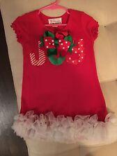 Boutique Toddler Girl Christmas Holiday Dress Joy Size 4