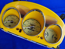 96-00 Honda Civic Stick Euro Dash Cluster Cover Bezel + White Yellow Face Gauges