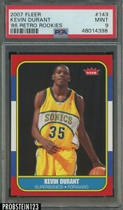 2007-08 Fleer 1986 Retro Kevin Durant Seattle Supersonics RC Rookie PSA 9 MINT