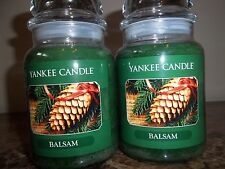 Yankee Candle    Balsam  22 oz.Lot of 2  Candles NEW  Free Shipping SALE!!