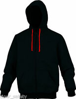 Delta Plus Panoply Cento Black Mens Zip Up Hoodie Hooded Sweater Jumper Top BNWT