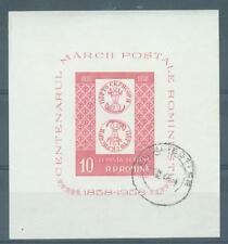 Roumanie 1958 timbres centenaire Miniature Sheet SG. MS2626 utilisé