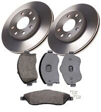 FRONT BRAKE DISCS AND PADS FITS VAUXHALL CORSA C 2000 - 2006