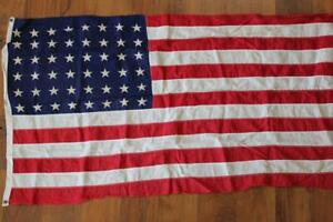 "VINTAGE 1940'S-1950'S 48 STAR COTTON UNITED STATES FLAGS 1912-1959 33"" X 58"""