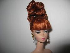 Nude OOAK 2002 Lingerie #6 Silkstone Barbie Doll - Updo Red Hair & Earrings