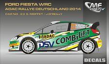 DECALS 1/43 FORD FIESTA WRC #23 - MOFFET - RALLYE ADAC 2014 - MF-ZONE D43346