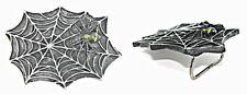 Vintage Dark Spider Web W/ Yellow Spot Spider Belt Buckle Body Jewelry UK Sale