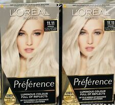 2X L'Oréal Preference Hair Colour.VENICE: 11.11. Ultra Light Cool Crystal Blonde