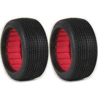 AKA Racing AKA14019QR Super Soft Long Wear 1/8 Double Down Tires w/Red Inserts 2