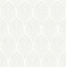 GATSBY Art Deco paillettes Carta da parati Colomba Grigio Bianco - Holden