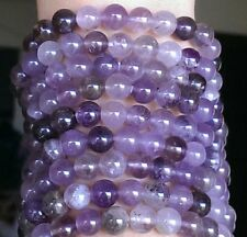 8mm AUTHENTIC AURALITE 23 Bracelet Cacoxenite Amethyst Quartz Super Seven Sis.