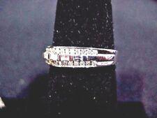 Estate Women's Baguette & Round  Diamond ring set in 14k white gold
