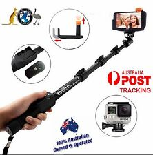 GOPRO BLUETOOTH SHUTTER SELFIE STICK EXTRA 1.2M LONG ANY PHONE WORKS + AUSPOST