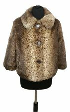 OASIS Faux Fur Coat Size L Size 14 Size 16 Brown Winter Outdoor Casual