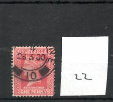 Victoria - (22)  Fiscal - Q Victoria - Revenue stamp - one penny