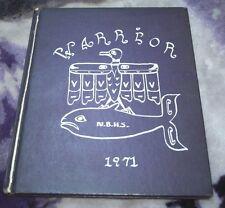 Neah Bay High School Warrior Yearbook 1971 Neah Bay Washington Hardcover