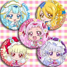 Hugtto! Pretty Cure Cure Yell Ange Etoile Macherie Amour Button Badge Brooch 5pc