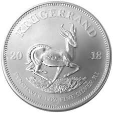 2018 South Africa Silver Krugerrand 1 oz Brilliant Uncirculated