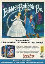 X2597 Cenerentola - Walt Disney Home Video - Pubblicità 1992 - Advertising