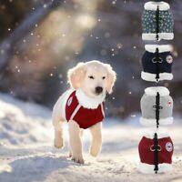 Reflective Dog Winter Clothes Warm Jacket Fleece Pet Cat Vest Puppy Coat Harness