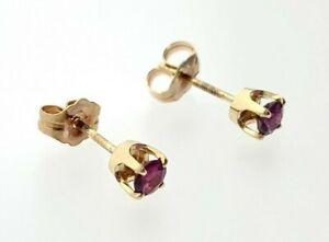 14kt Yellow Gold Ruby Earrings