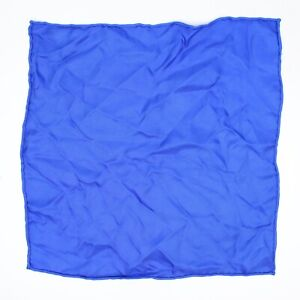 """Men's Silk Pocket Square Solid Electric Royal Blue Twill 12.5"""" Rolled Edge"""