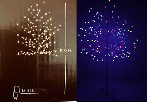 Lumineo Color Switch Lit Christmas Tree Berry LED 5.9 Foot Warm White/Multi