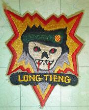 Patch - CIA - LONG TIENG - SOG - Most Secret Place on Earth - Vietnam War - 5137