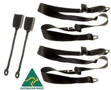 APV Universal Lap Sash Seat Belt Pair With 400mm Stalk Buckles As25696