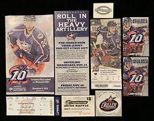 2010-11 COLUMBUS BLUE JACKETS NHL PROGRAM & TICKET & SCHEDULE vs MINNESOTA WILD
