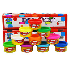 Fun doh Tube 10 Pots pack of Childrens modelling play dough tubs Party Toy New